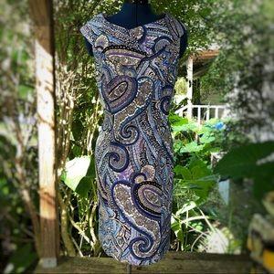 Dressbarn | Blue Paisley Print Dress